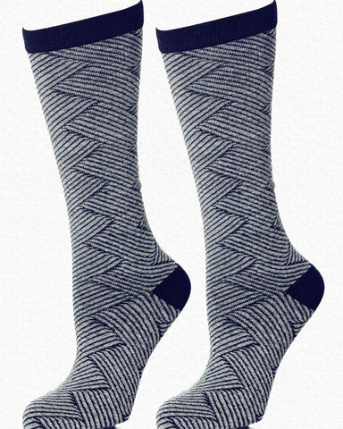 Anew for 19 - Zig Zag Sock by HdF