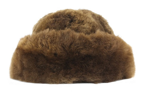 Alpaca Fur Hat - White, Fawn, Brown