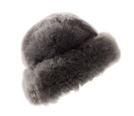 Alpaca Fur Hat- Charcoal or Black