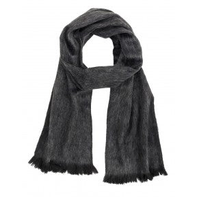 Brushed Alpaca Scarf - Charcoal