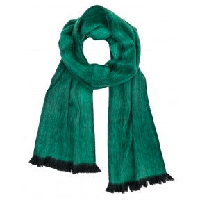 Brushed Alpaca Scarf - Emerald