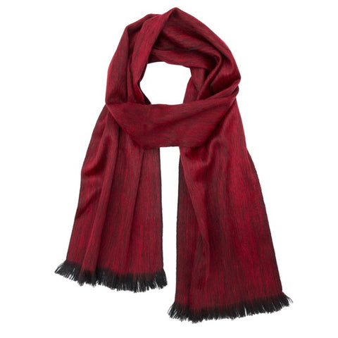 Brushed Alpaca Scarf - Sapphire Red