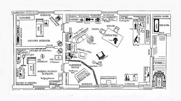 What can we deduce from the floor plan of 221b Baker Street?