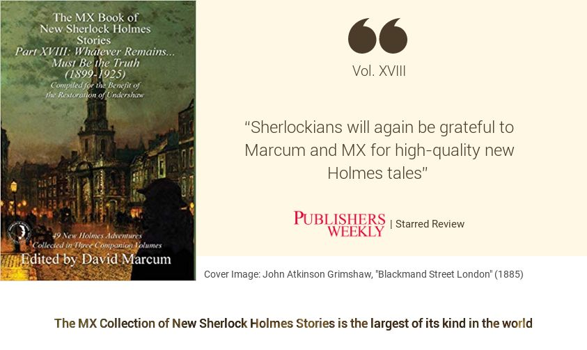 Sherlock Book Review - MX Book of New Sherlock Holmes Stories XVIII