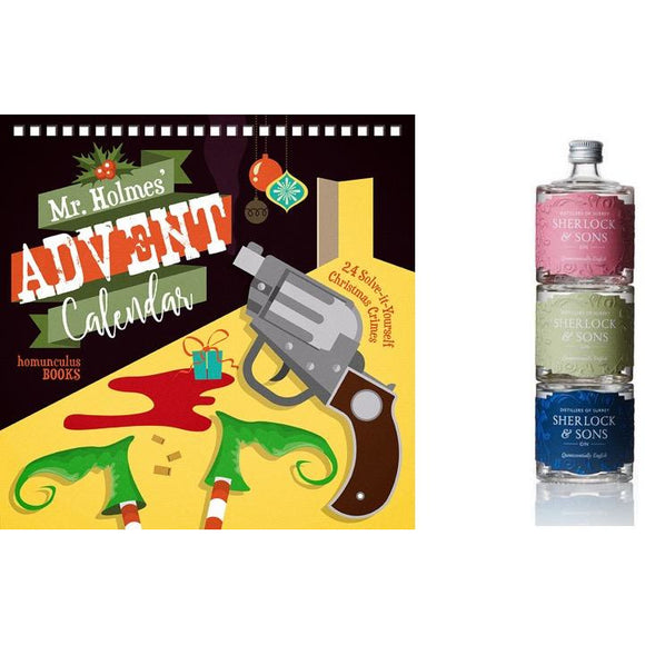 Mr Holmes' Advent Calendar and Gin Gift Set Bundle (UK only)