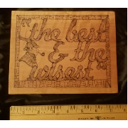 Wood Burned Shelf Sitter or Wall Plaque