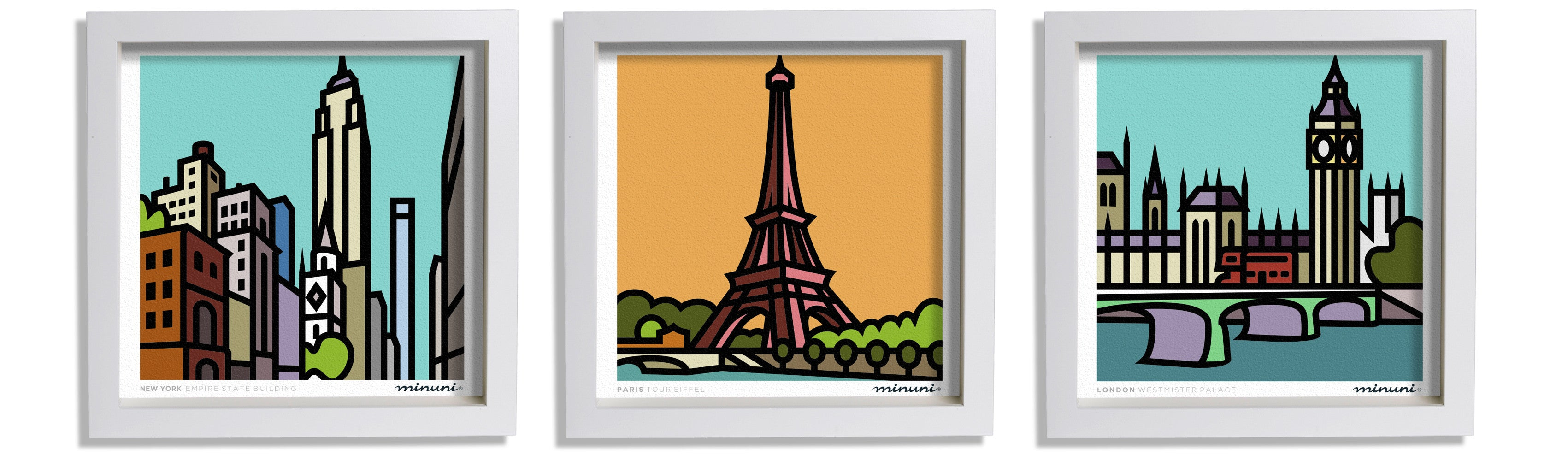 Artprints of Paris New York and London