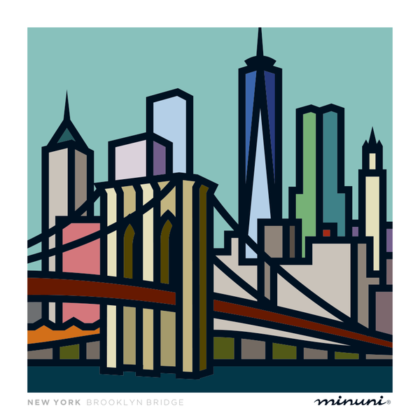 Art print inspired in Brooklyn Bridge