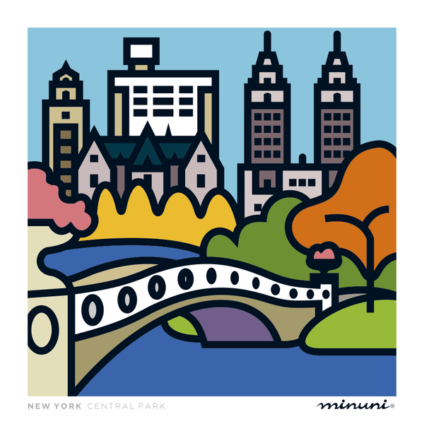 Art print inspired in Central Park