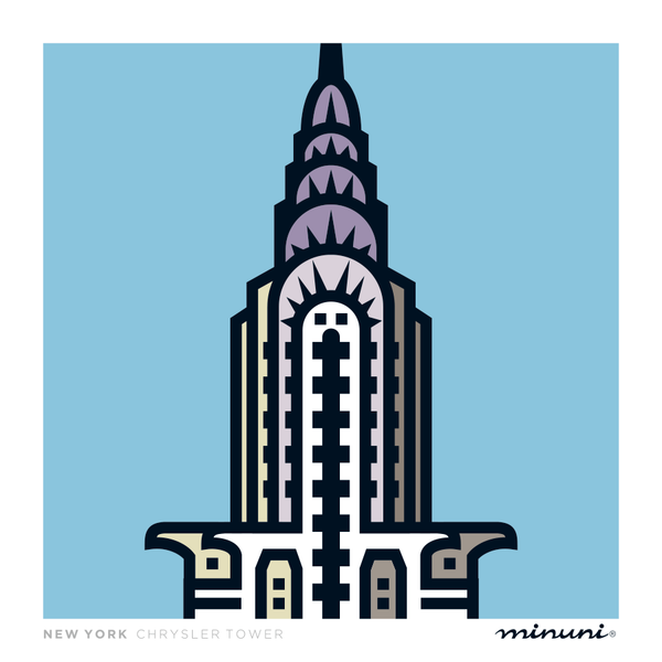 Art print inspired in Chrysler Tower