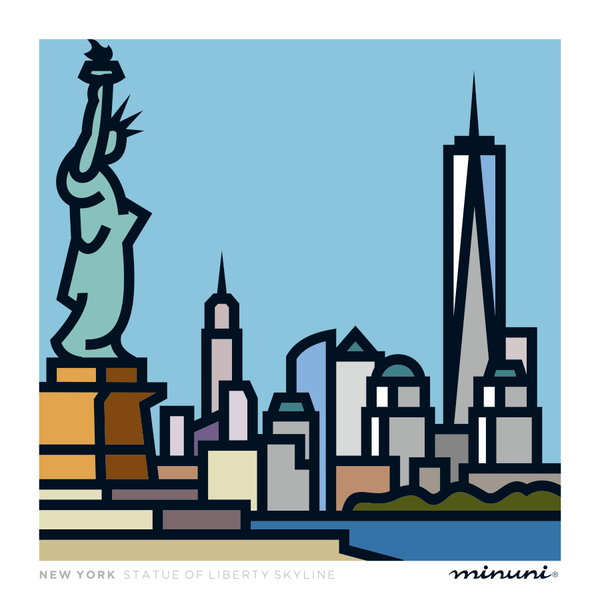Art print inspired in New York Statue of Liberty