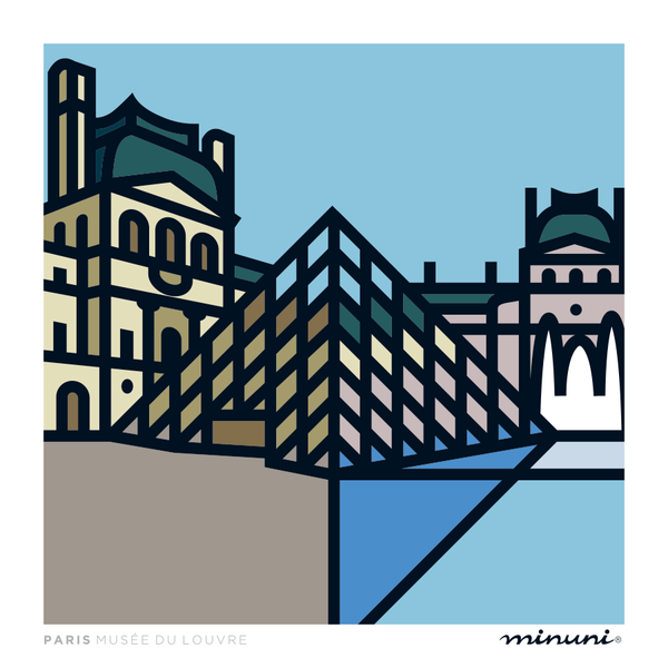 Art print inspired in Musee du Louvre