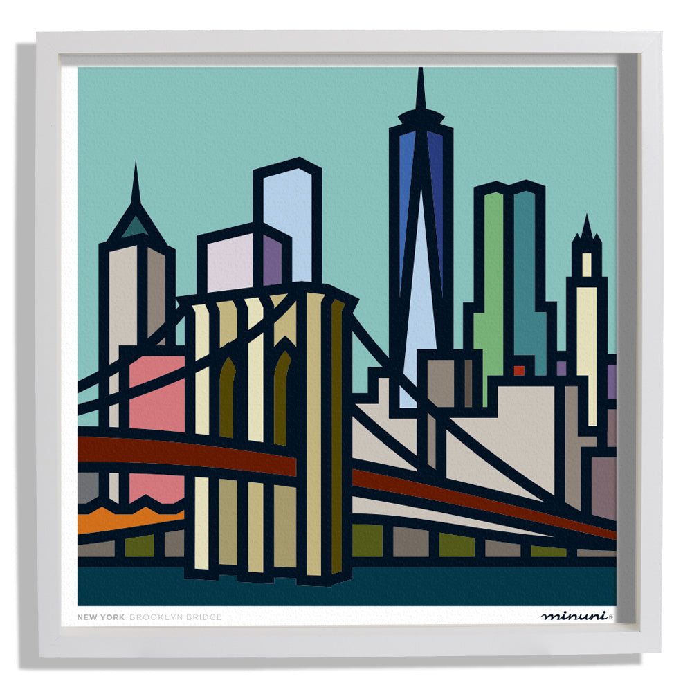 Art Print inspired in the Brooklyn Bridge New York