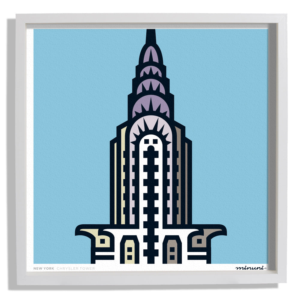 Art Print inspired in the Chrysler Tower New York