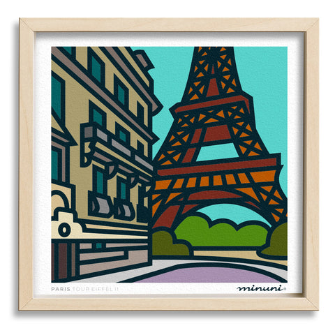 Art print inspired in Eiffel Tower