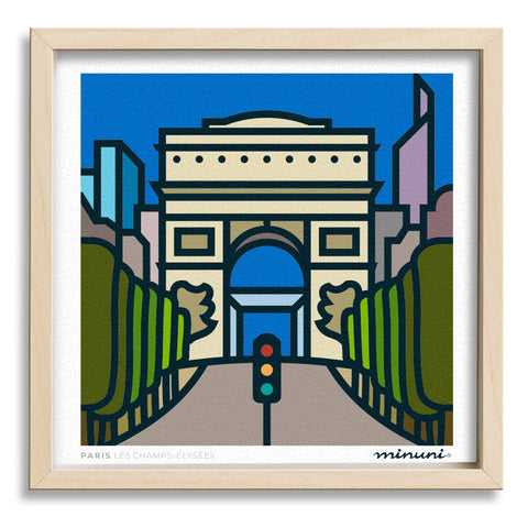 Art print inspired in Les Champs-Elysees