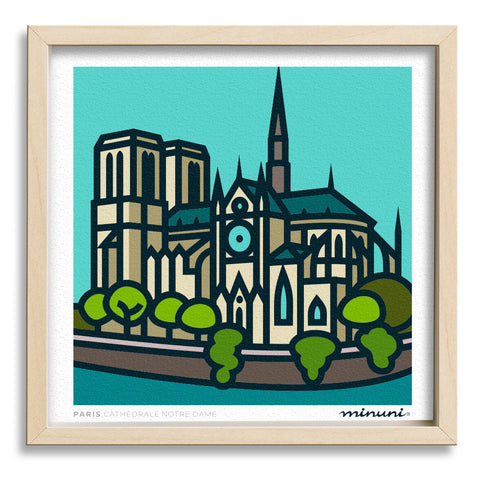 Art print inspired in Notre Dame