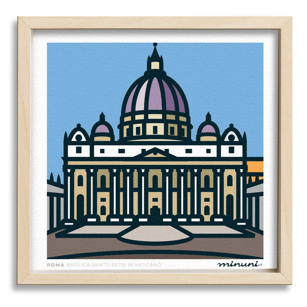 Art print inspired in Sancti Petri in Vaticano