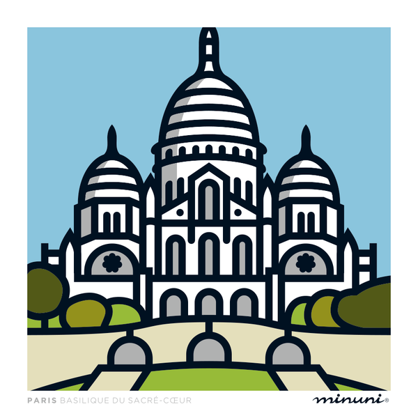 Art print inspired in Sacre-Coeur Paris