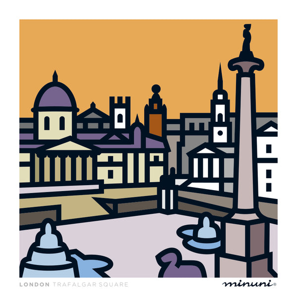 Art print inspired in Trafalgar Square