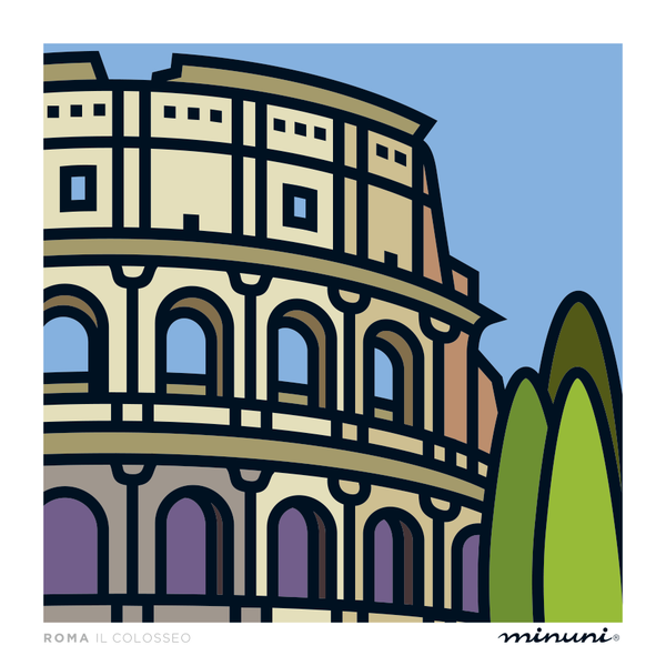 Art print inspired in The Roman Colosseo