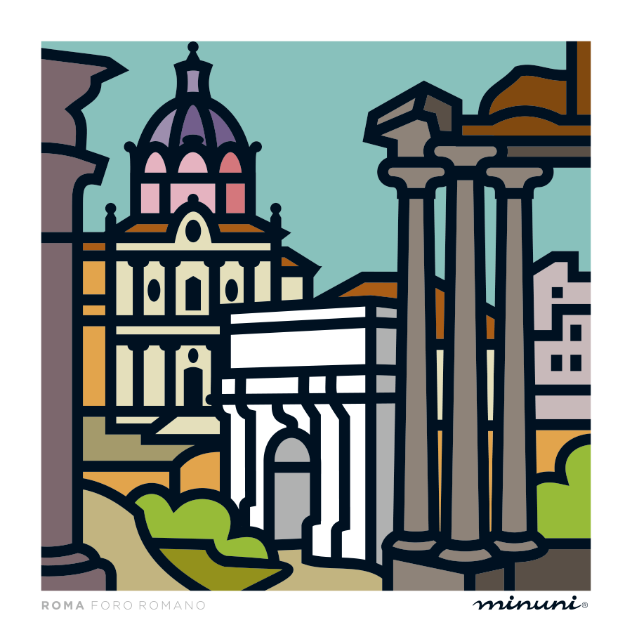 Art print inspired in Roman Forum