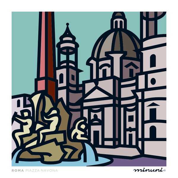 Art print inspired in Piazza Navona