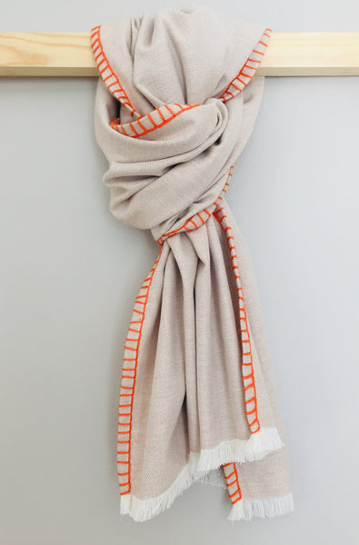 Beige & orange Scarf