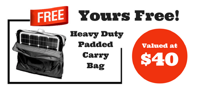 Free Gift Heavy Duty Padded Solar Panel Carry Bag
