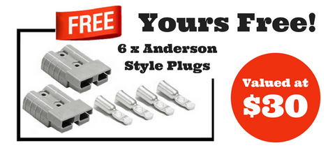 Exclusive Bonus Gift 6 x 50 Amp Anderson Style Plugs - Mobile Solar Pro