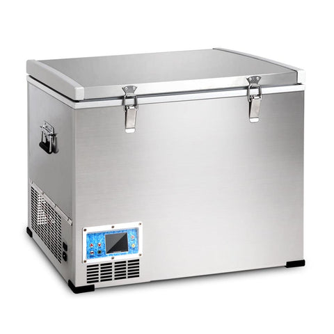 70L Portable Fridge Freezer Stainless Steel 2 in 1 - Mobile Solar Pro