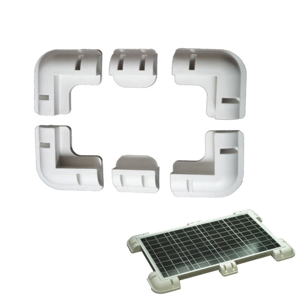 Set of 6 Universal Solar Panel Mounting Brackets - Mobile Solar Pro