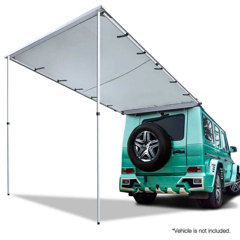 Weisshorn 1.4M X 2M Side Roof Car Awning - Grey - Mobile Solar Pro