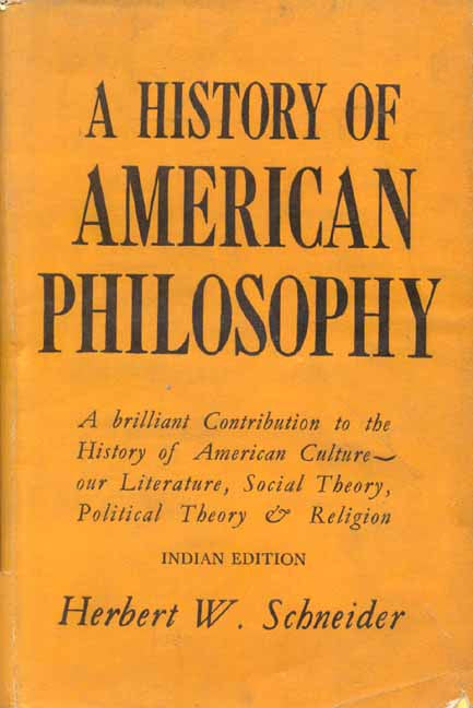 History of American Philosophy