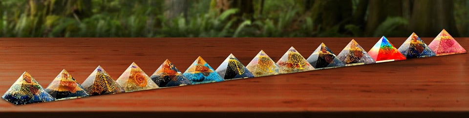 Collection of Orgone Pyramid