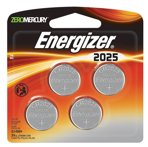 4x Energizer 2025 Watch Battery