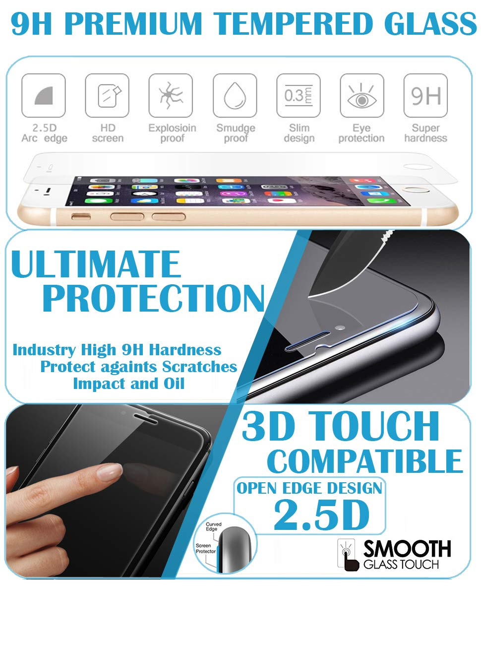 iPhone 7 Screen Protector 2 Pack IP6_TGSP_IS1 B01I5E0LKG