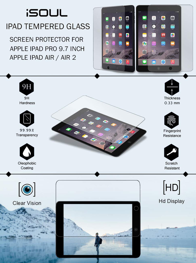 Screen Protector for Apple iPad Air B07HC7RH99 ISTGSPAR2P