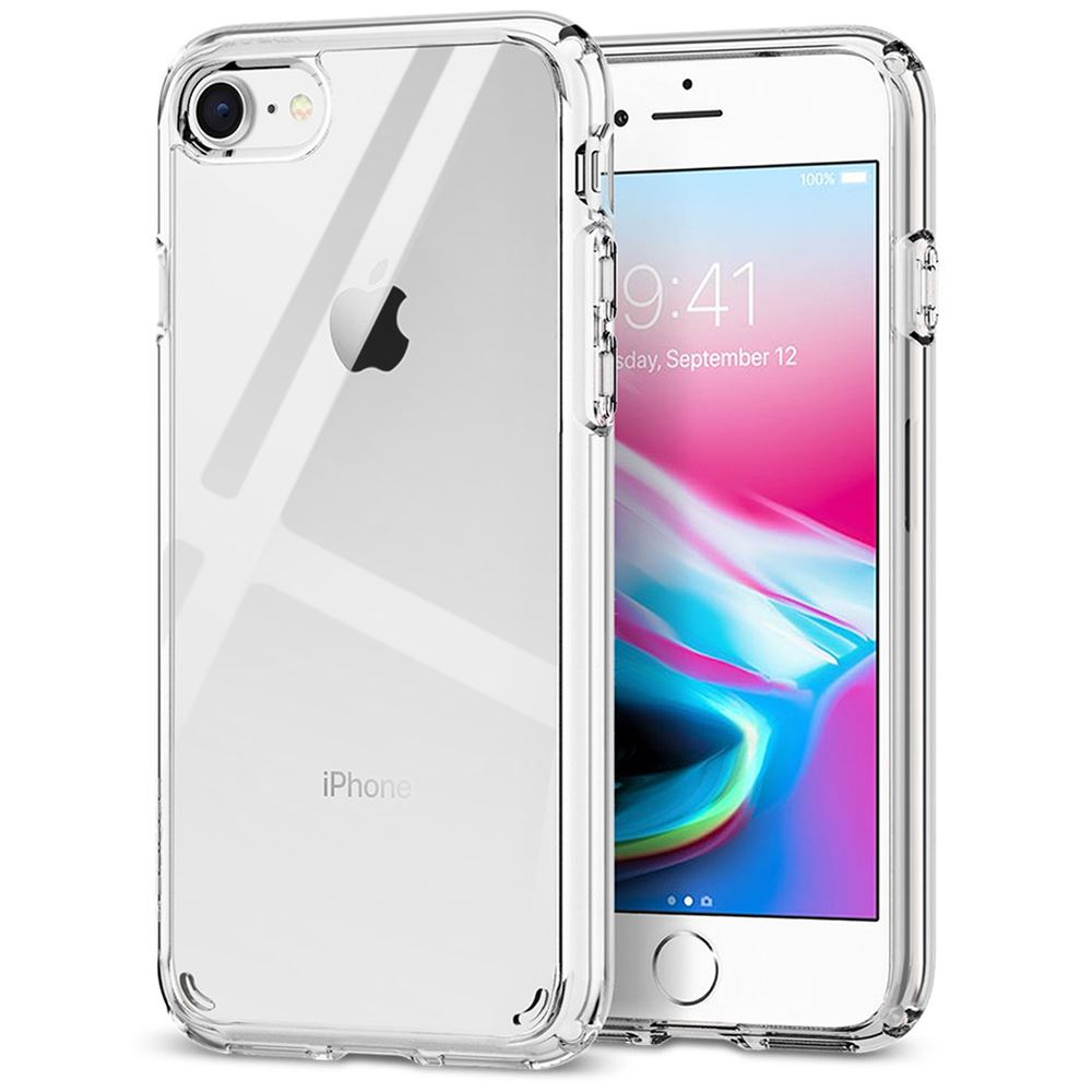 Shockproof Phone Cases Five Color Option HD Clear Clear Silicone TPU Anti-Scratch Bumper Back Protective Gel Cover ISOUL Premium Case for Apple iPhone 8 Plus and iPhone 7 Plus