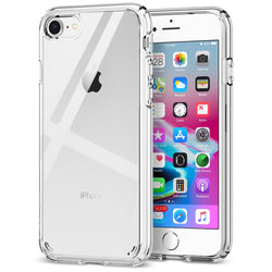 Low cost Transparent Hard Back Case for iPhone 7 & iPhone 8 in UK 2020-Case / Cover-TradeNRG UK