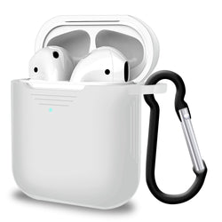 1 × Airpods Silicon Case (Airpods NOT included) 1 × Key-chain Hook - Clear Case