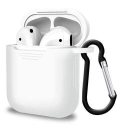 2 in 1 Apple Airpods Silicone Case Earphones Charging Skin Cover White-Case / Cover-TradeNRG UK