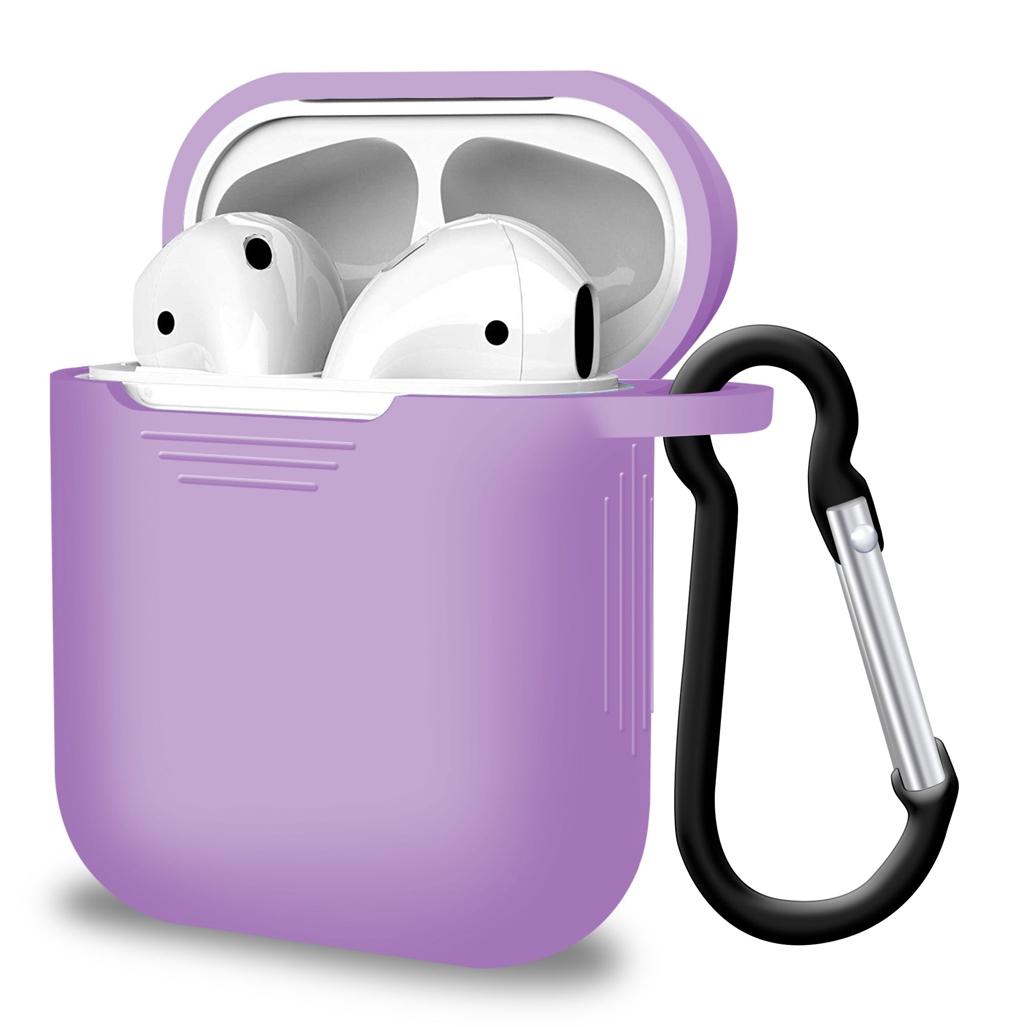 2 in 1 Apple Airpods Silicone Case Earphone Charge Skin Cover Slight Purple, Audio Accessories by TradeNRG