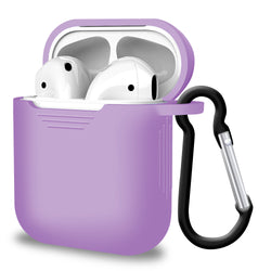 2 in 1 Apple Airpods Silicone Case Earphone Charge Skin Cover Slight Purple-Case / Cover-TradeNRG UK