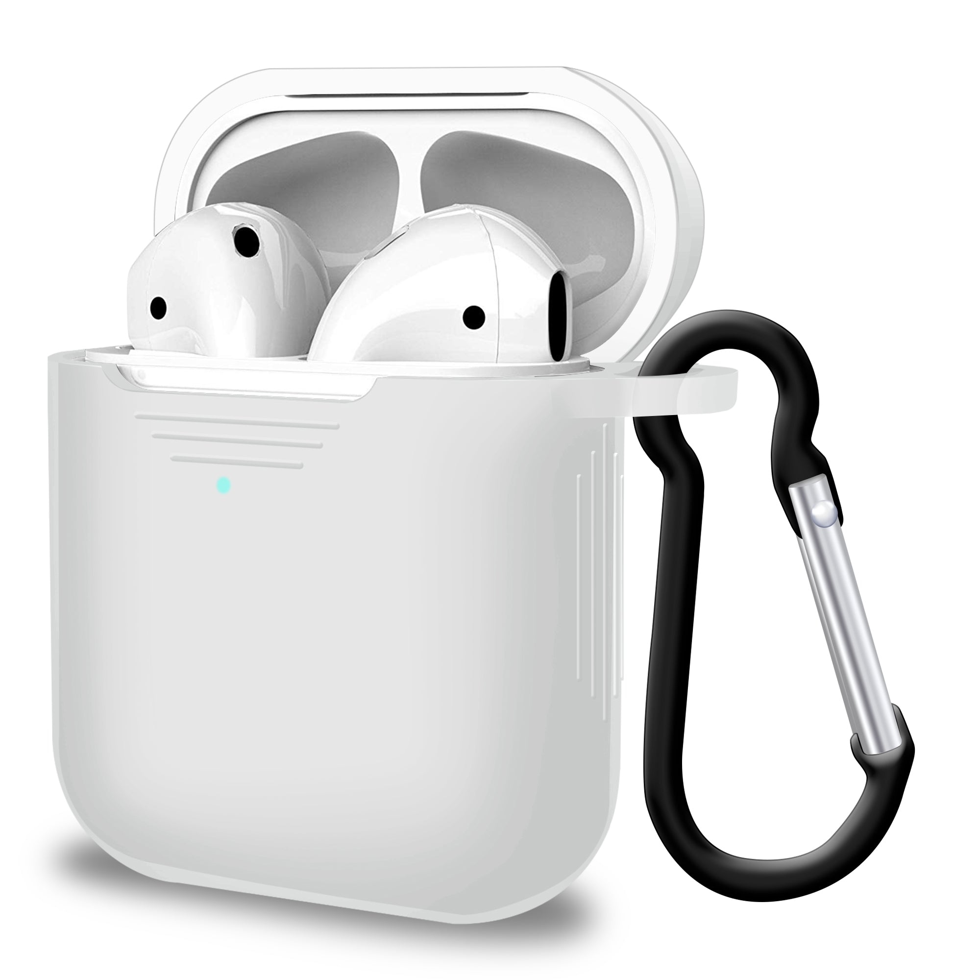 2 in 1 Apple Airpods Silicone Case Earphone Charge Skin Cover - Clear, Audio by TradeNRG