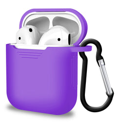 2 in 1 Apple Airpods Silicone Case Earphone Charge Skin Cover - Purple-Case / Cover-TradeNRG UK