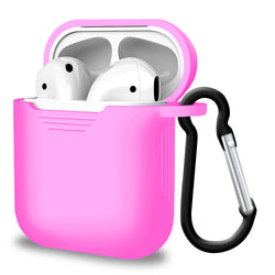 2 in 1 Apple Airpods Silicone Case Earphone Charge Skin Cover - Pink-Case / Cover-TradeNRG UK