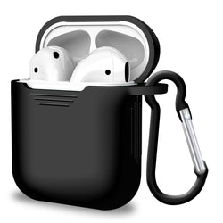 2 in 1 Apple Airpods Silicone Case Earphones Charge Skin Cover Black-Case / Cover-TradeNRG UK