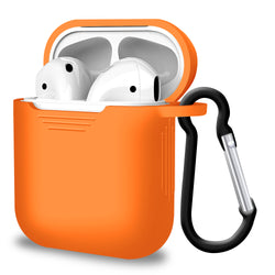 2 in 1 Apple Airpods Silicone Case Earphones Charge Skin Cover Orange-Case / Cover-TradeNRG UK