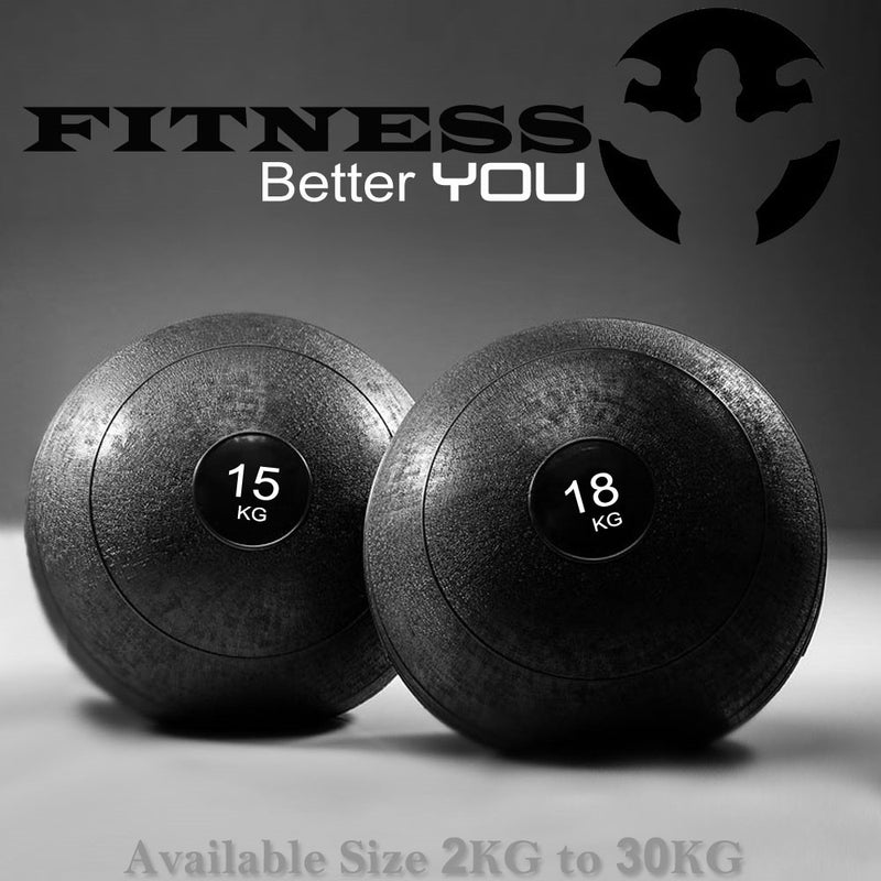 Body Workout Fitness Traning Slam Ball Non-Bounce Rubber MMA Boxing Crossfit - Fitness - ISOUL	 - 1